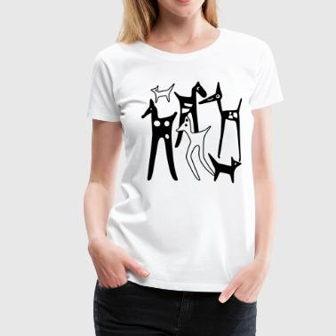 stylized_animals - Frauen Premium T-Shirt