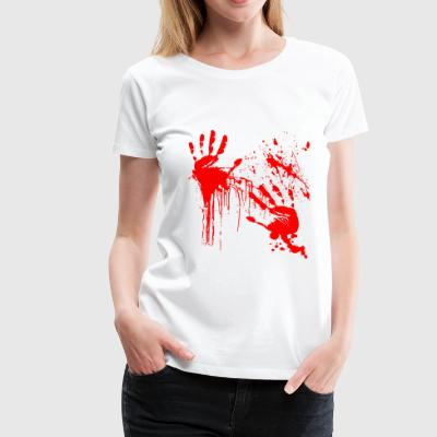 Blood Halloween Blood Utsmetad Skräck Thriller - Premium-T-shirt dam