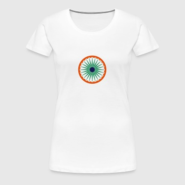 Ashoka Chakra colors India - Women's Premium T-Shirt