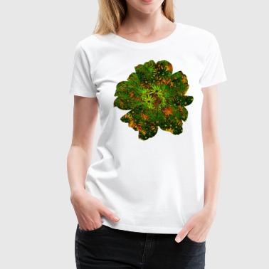 Jungle Style Flower Pattern Jungle - Women's Premium T-Shirt