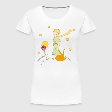 The Little Prince Travels With Birds - Women's Premium T-Shirt