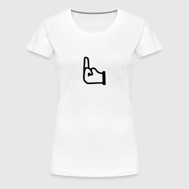 Mittelfinger, Fuck you  - Frauen Premium T-Shirt