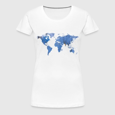 map of the world world map - Women's Premium T-Shirt
