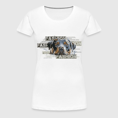 fashion-rottweiler-dog-an - Women's Premium T-Shirt