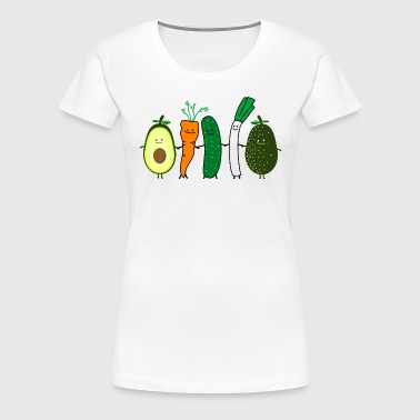 vegetable friends - Vrouwen Premium T-shirt