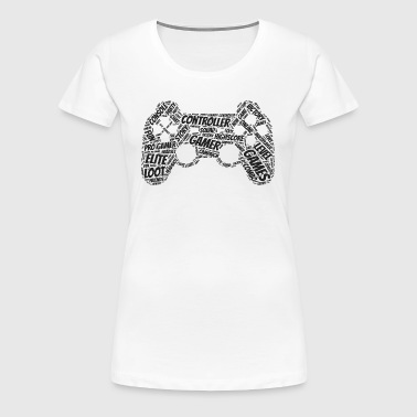 game controller wordart - Women's Premium T-Shirt
