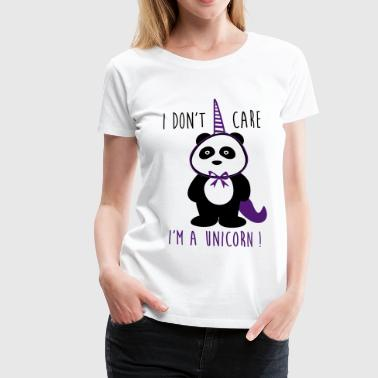 Cool funny unicorn panda - Women's Premium T-Shirt
