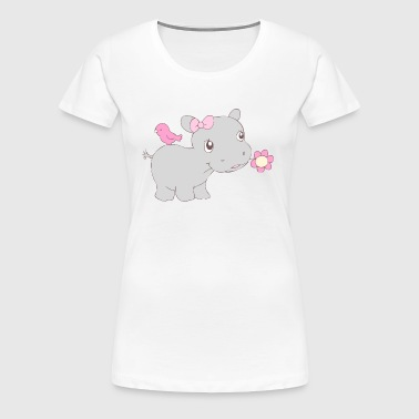 Happy Hippy Hippo Girl - Women's Premium T-Shirt