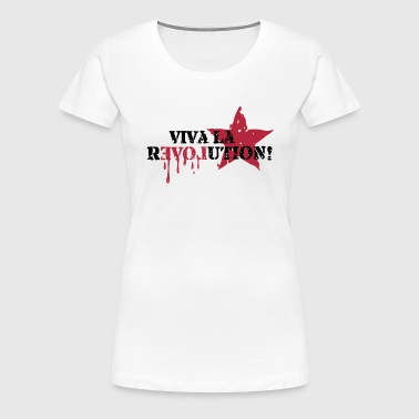 Viva la REVOLUTION, LOVE, Star, Anarchy, Punk - Women's Premium T-Shirt