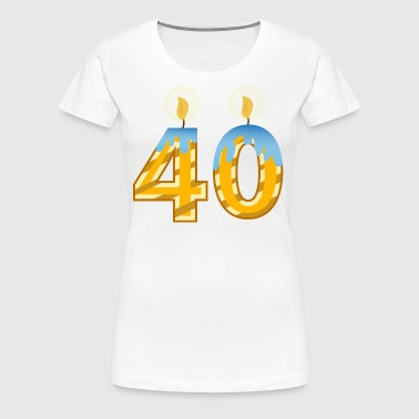 40th Birthday Candles - Women's Premium T-Shirt