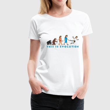evolution_handballerin_comic_c - Frauen Premium T-Shirt