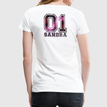 Sandra Name - Frauen Premium T-Shirt