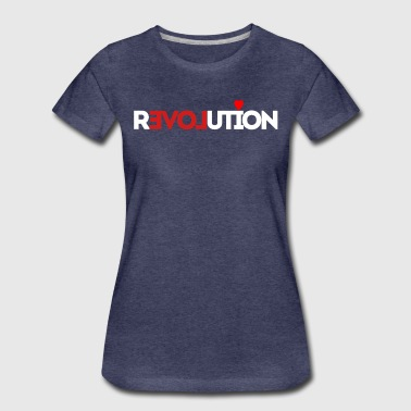 Love Revolution Herz - Frauen Premium T-Shirt