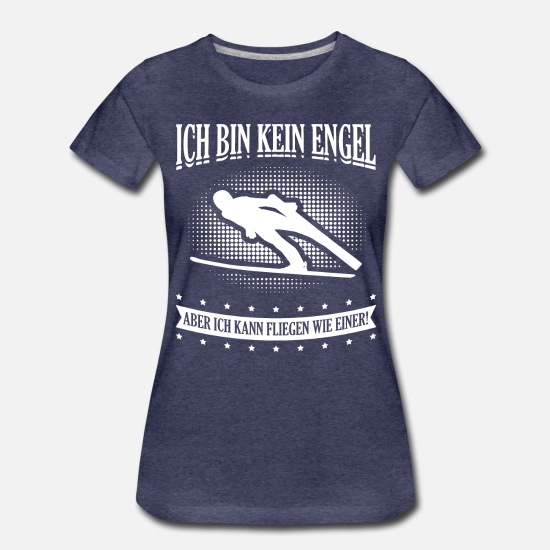 Ski T-Shirts - ski - Women's Premium T-Shirt heather navy
