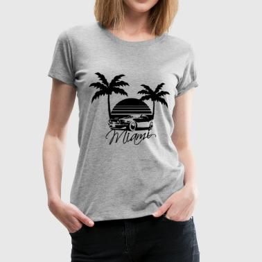 Mus Miami Beach Palms Logo Design - T-shirt Premium Femme