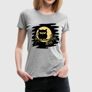 OWL AST night Moon - Women's Premium T-Shirt