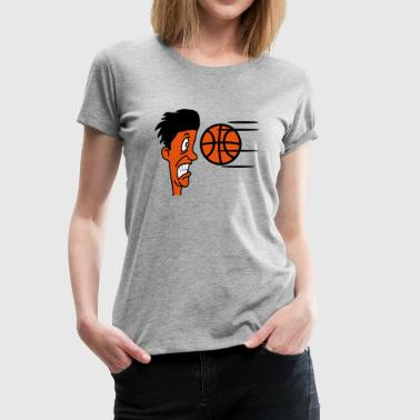 Basketball sports funny cool - Women's Premium T-Shirt
