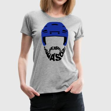 Ice Hockey Beard Season - Women's Premium T-Shirt