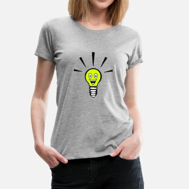 Led Light bulb with smiley - big idea - Vrouwen Premium T-shirt