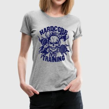 training quote skull bodybuilding dumbbel - Women's Premium T-Shirt