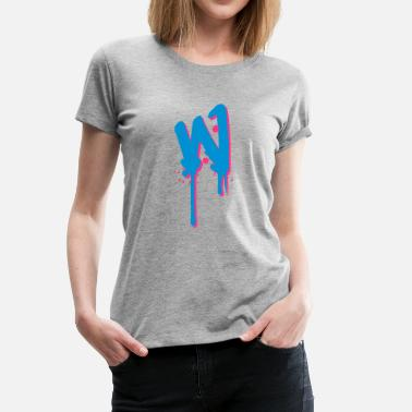 Farbklex W graffiti drops Farbklex spray - Women's Premium T-Shirt