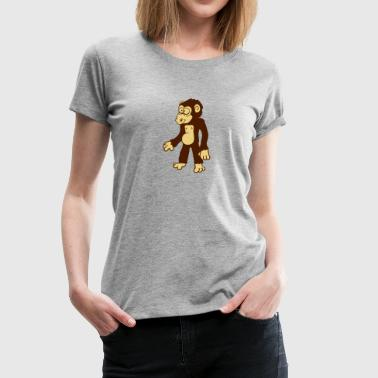 Comic Affe - Frauen Premium T-Shirt