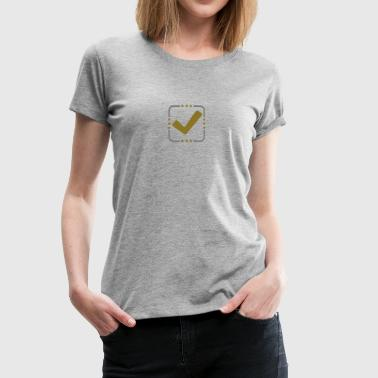 Haken Button Gold Silber - Frauen Premium T-Shirt