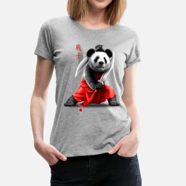 Japanese Martial Arts SWORDS PANDA - Women's Premium T-Shirt