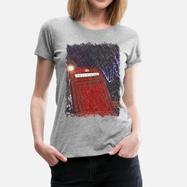 Phone Box London phone box - Women's Premium T-Shirt