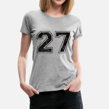 Number Number 27 in the used look - Women's Premium T-Shirt