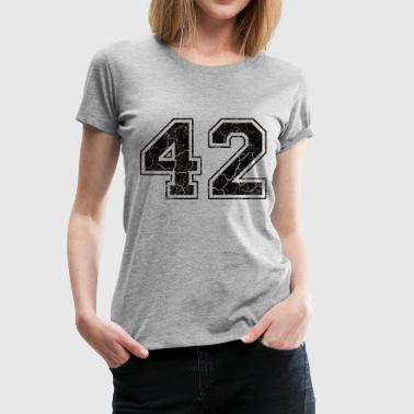 Nummer 42 i used-look - Dame premium T-shirt