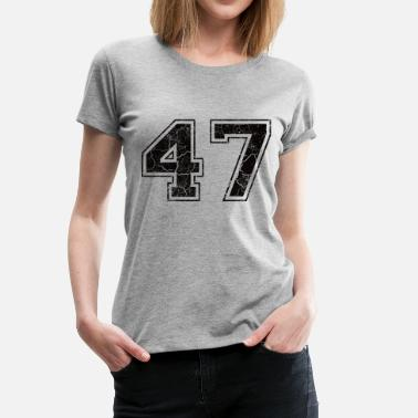 Number 47 Number 47 in the used look - Women's Premium T-Shirt
