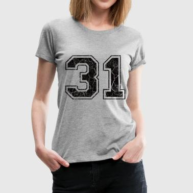 Number 31 in the used look - Women's Premium T-Shirt
