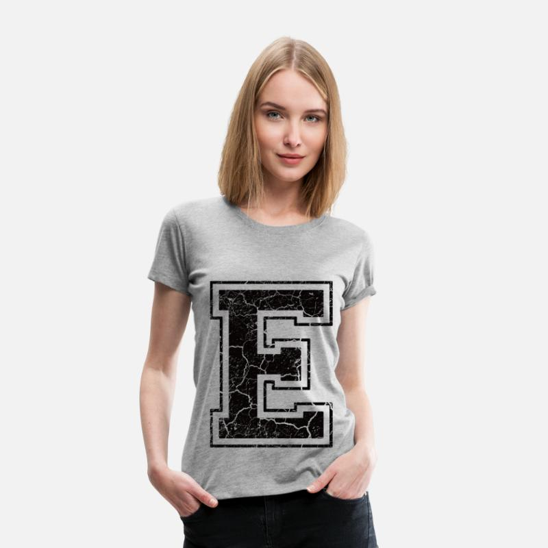 First Name T-Shirts - Letter E in the grunge look - Women's Premium T-Shirt heather grey