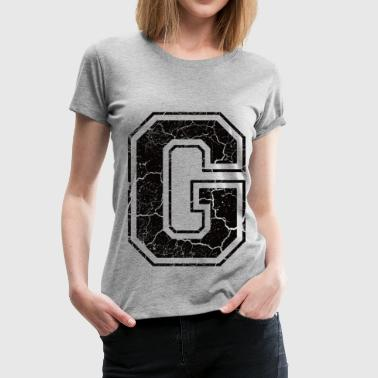 Letter G in the grunge look - Women's Premium T-Shirt
