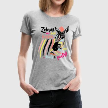 Animal Planet Zebra Ready To Party - Women's Premium T-Shirt