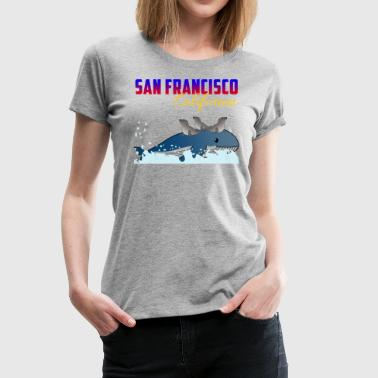 Sea lions with whale San Francisco California seal - Women's Premium T-Shirt