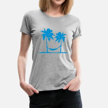 Sleeping Hammock Hammock sleeping palms on the beach sun sea - Women's Premium T-Shirt