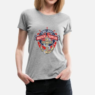 Graphic Art Nautical Graphic Art - Women's Premium T-Shirt