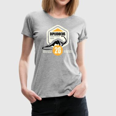 Animal Planet Dinosaurs Diplodocus Facts - Women's Premium T-Shirt