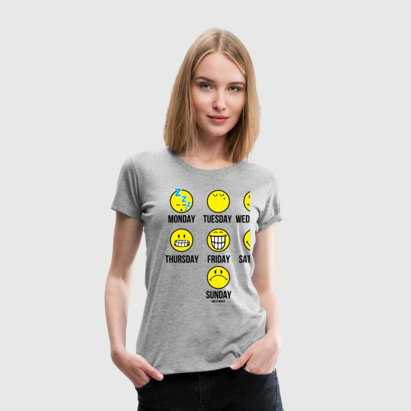 SmileyWorld Weekly Overview - Women's Premium T-Shirt