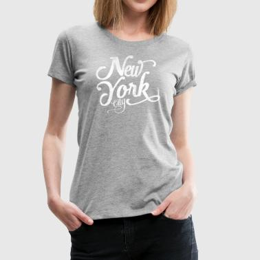New York City  Typografie - Frauen Premium T-Shirt