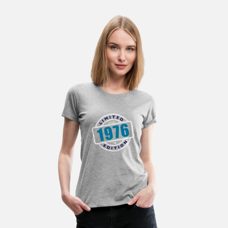 1976 T-Shirts - LIMITED EDITION SINCE 1976 - Women's Premium T-Shirt heather grey