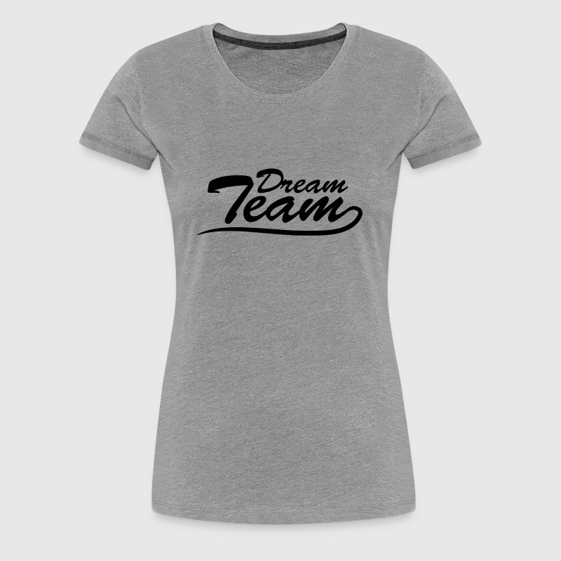 Text logo lettering couple dream team - Women's Premium T-Shirt