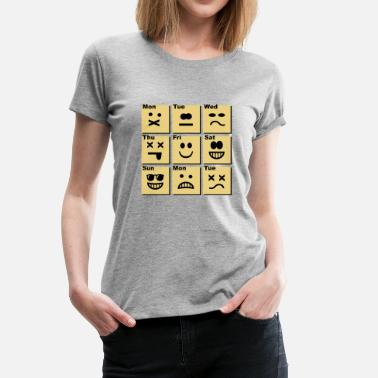 Emoticon everyday emoticons - Premium T-skjorte for kvinner