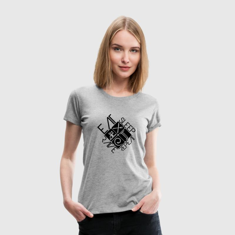 DJ Logo Design Eat Sleep Rave Repeat - Women's Premium T-Shirt