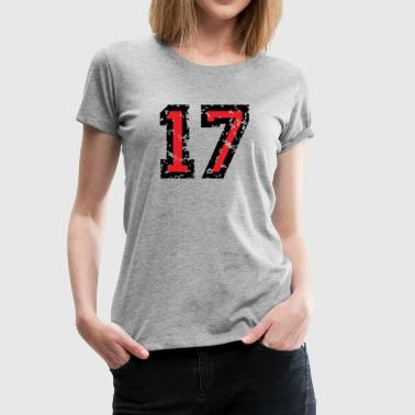 The Number Seventeen - No. 17 (two-color) red - Women's Premium T-Shirt