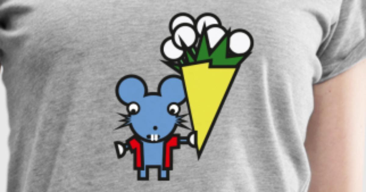 süße Maus Blumenstrauß Blumen Geschenk von ULALA GRAPHICS | Spreadshirt