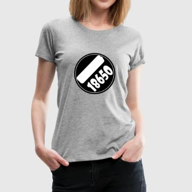 18650 Vape T-shirt icon batt - Women's Premium T-Shirt