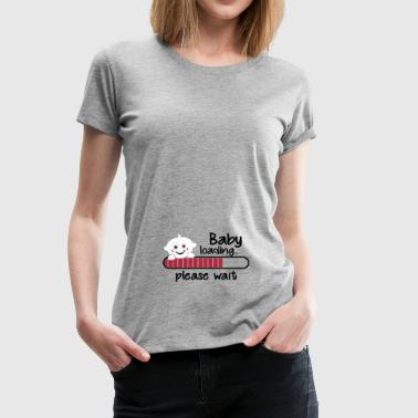 Baby loading... please wait - Frauen Premium T-Shirt